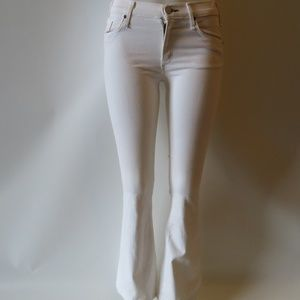 MCGUIRE WHITE DENIM STRETCH JEANS SIZE 25 *
